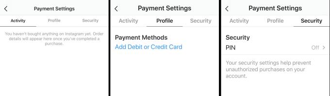 Instagram payment