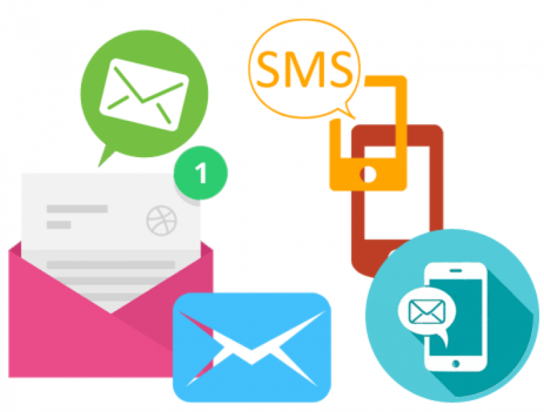 Bulk SMS, Email infographic